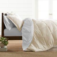 All Season Down Alternative 2-Piece Reversible Twin/Twin XL Comforter Set in White