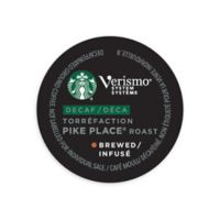 Starbucks® Verismo™ 12-Count Decaf Pike Place® Roast Brewed Coffee Pods