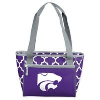 Kansas State University Quatrefoil 16-Can Cooler Tote