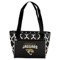 NFL Jacksonville Jaguars Quatrefoil 16-Can Cooler Tote