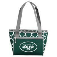 NFL New York Jets Quatrefoil 16-Can Cooler Tote