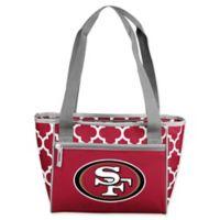 NFL San Francisco 49ers Quatrefoil 16-Can Cooler Tote