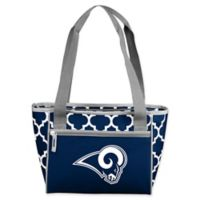 NFL Los Angeles Rams Quatrefoil 16-Can Cooler Tote