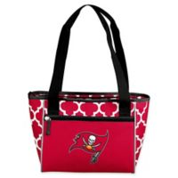NFL Tampa Bay Buccaneers Quatrefoil 16-Can Cooler Tote in Red