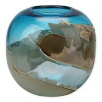 Moe's Home Collection Mystic Blue 10-Inch Globe Glass Vase