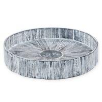 My Zen Home™ Kenchuto 16-Inch Round Tray in Grey/Black