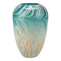 Moe's Home Collection Array 14-Inch Vase in Teal