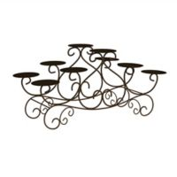 Lavish Home Elegant Swirl Candelabra in Black