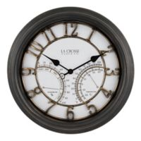 La Crosse Clock™ Courtyard Indoor/Outdoor Wall Clock/Weather Station