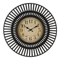 La Crosse™ Covington 20-Inch Wall Clock in Black