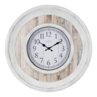 La Crosse™ Weathered 20-Inch Wall Clock in White