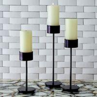Studio A Home Harry Pillar Candlesticks in Bronze (Set of 3)