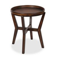 Kate and Laurel Arkdale Tray-Top Accent Table in Dark Walnut