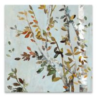 Birch with Leaves II Square Canvas Wall Art
