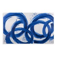 Blue Loops 50-Inch x 80-Inch Canvas Wall Art
