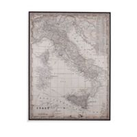 Antique Italy Map Framed Wall Art