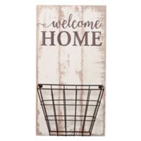 "P. Graham Dunn ""Welcome Home"" Wood Wall Art with Basket"