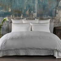 Frette At Home Boho Embroidery Queen Sheet Set in Ivory