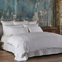 Frette At Home Boho Embroidery Queen Duvet Cover in Ivory