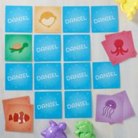 Sea Creatures Personalized Memory Game