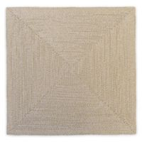 Fancy Square Beaded Placemat in Ivory