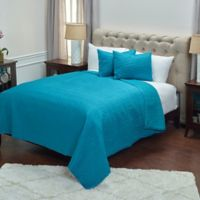 Rizzy Home Parker King Quilt Set in Teal