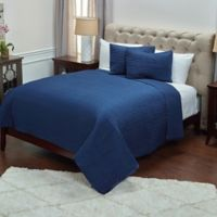Rizzy Home Parker King Quilt Set in Navy