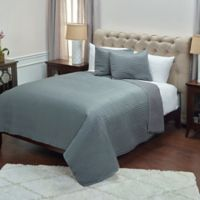 Rizzy Home Parker King Quilt Set in Grey