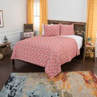 Rizzy Home Lilou King Quilt Set in Red