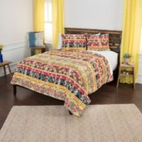 Rizzy Home Dash King Quilt Set in Yellow