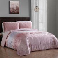 Addison Home Bradshaw 3-Piece Velvet King Comforter Set in Blush