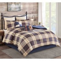 Evergreen 8-Piece Queen Comforter Set in Navy