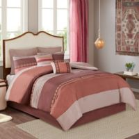 Rainer 8-Piece California King Comforter Set in Red