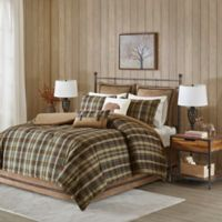 Hadley Plaid King Comforter Set