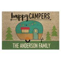 """Happy Campers 18"""" x 27"""" Door Mat in Brown"""