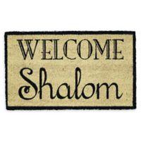 "Design Imports Shalom 18"" x 30"" Coir Door Mat in Tan"