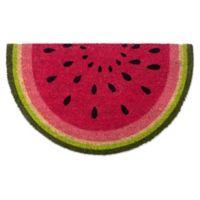"""Design Imports Watermelon 18"""" x 30"""" Coir Door Mat in Pink"""