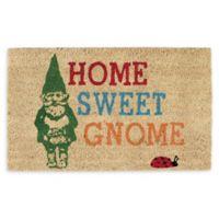 "Design Imports Home Sweet Gnome 18"" x 30"" Coir Door Mat in Tan"