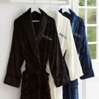 Just For Him Embroidered Name Fleece Robe