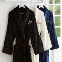 Just For Him Embroidered Monogram Fleece Robe