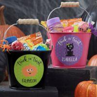Halloween Character Personalized Treat Bucket