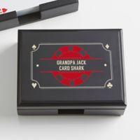 Poker Night Personalized Wood Playing Card Box