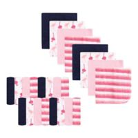 Luvable Friends® 24-Pack Flamingo Washcloths in Pink
