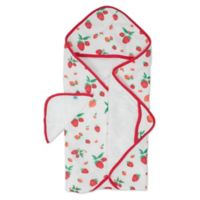 Little Unicorn Strawberry Muslin/Terry Hooded Towel in Red