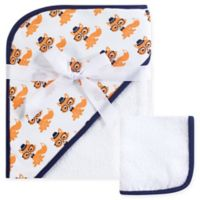 Hudson Baby® Nerdy Fox Woven Hooded Towel and Washcloth Set in Orange