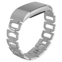 Element Works Rhinestone Design Large Bracelet Band in Silver