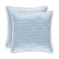 Piper & Wright Rosalie 18-Inch Square Throw Pillow in Blue