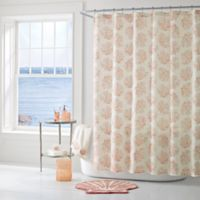 J. Queen New York™ Coral Reef Shower Curtain in Coral