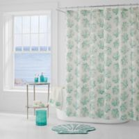 J. Queen New York™ Coral Reef Shower Curtain in Aqua