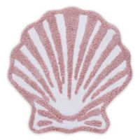 """J. Queen New York™ Coral Reef 27"""" x 27"""" Seashell Bath Rug in Coral"""